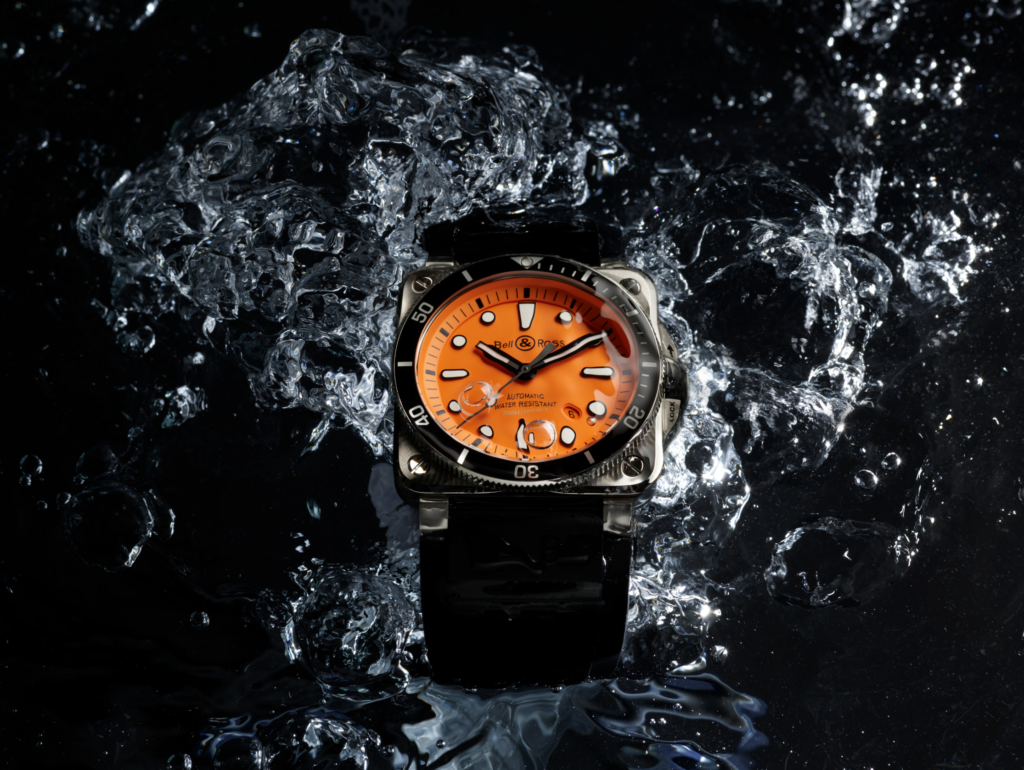 BELL & ROSS Watches Drop The New, BR 03-92 DIVER ORANGE